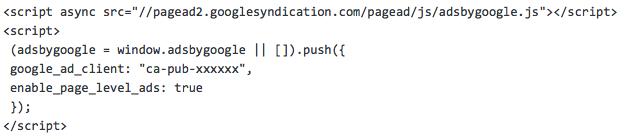グーグルアドセンスリンクコード