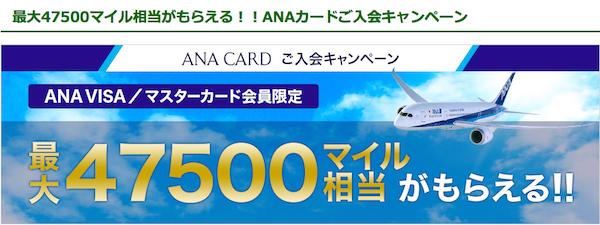 ANA VISA入会キャンペーン