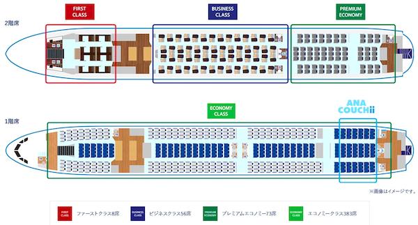 エアバスA380座席
