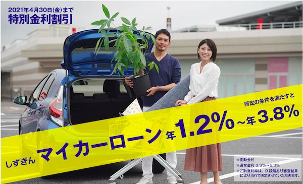静岡銀行マイカーローン